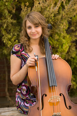 Betsy with her cello