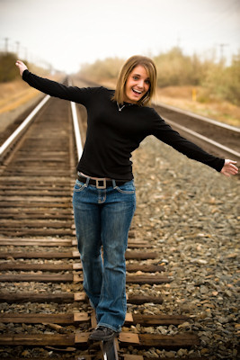 Micaela on the tracks