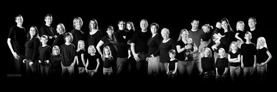 Black on black family portrait